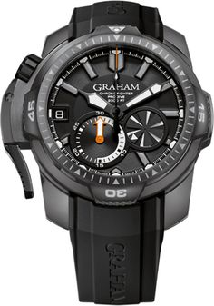 Graham Watch Chronofighter Prodive PVD #bezel-fixed #bracelet-strap-rubber…