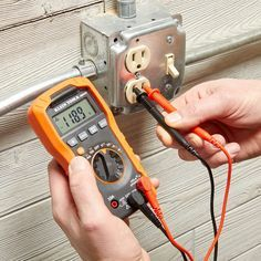 A Guide to Multimeters and How to Use Them - Home repair Multimeters are a super-handy tool, and they are easier to use than you think. Types Of Electrical Wiring, Electrical Projects, Electrical Tools, Electrical Engineering, Electrical Symbols, Electrical Installation, Chemical Engineering, Electrical Outlets, Garage Tools