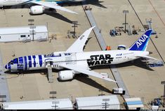 """All Nippon Airways Boeing 787-9 Dreamliner """"Star Wars"""" livery awaiting delivery..."""