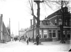 De Verlengde Hereweg kijkend in de Helperkerkstraat 1909 - Foto's SERC