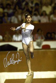 Summer Olympic Games, ROM Nadia Comaneci in action at the balance beam … - olympic gymnastics Gymnastics History, Gymnastics Videos, Gymnastics Pictures, Sport Gymnastics, Artistic Gymnastics, Olympic Gymnastics, Olympic Sports, Gymnastics Leotards, Olympic Games