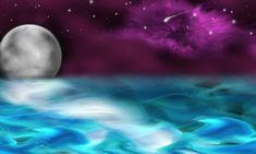 Oceaan, Maan, Sterren, Astronomie, Achtergrond