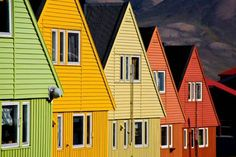 Row houses in Longyearbyen, Svalbard, Norway ~ Places To Travel, Places To See, Travel Destinations, Places Around The World, Around The Worlds, Svalbard Norway, Longyearbyen, Beautiful Norway, Scandinavian Countries