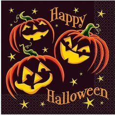 Pumpkin Grin Halloween Luncheon Napkins, 16ct Halloween Logo, Retro Halloween, Halloween Food For Party, Halloween Pumpkins, Happy Halloween, Halloween Decorations, Party World, Paper Pumpkin, Paper Lanterns
