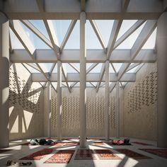 A mosque overlooking the see  Napoli, via Marina  Project  Mirko Russo e Francesca Addario Render  Stefano Davìd Lanzetta