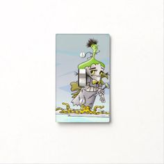 FRANKY BUTTER LIGHT SWITCH SINGLE Toggle - kids kid child gift idea diy personalize design
