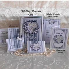 A full wedding stationary set including, Invitation front and choice of 2 inserts, one with minimal writing, one fill all details, table name cards, thank you card with words, reply card with accept with pleasure. decline with regret, and envelope