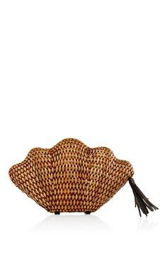 Wicker Seashell Clutch by KAYU