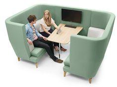 Cabine de bureau murale en tissu pour réunions ENTENTE | Cabine de bureau - Boss Design
