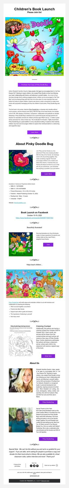 Children's Book Launch Please Join Us! Best Children Books, Childrens Books, Book Launch, Doodles, Join, Product Launch, Happy Life, Healthy, Awards
