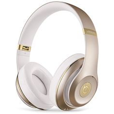 Beats by Dr. Dre Studio Wireless Headphones featuring polyvore women's fashion clothing headphones gold beats by dr. dre