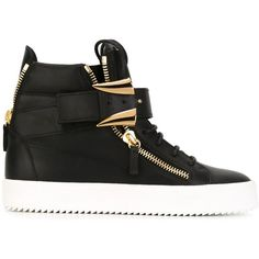 Giuseppe Zanotti Design Coby Tusk Hi-Top Sneakers ($380) ❤ liked on Polyvore