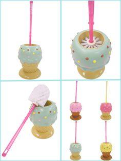 So funny! Ice cream toilet brush ~ japanese brand Swimmer