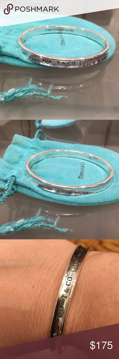 Tiffany & Co 1837 sterling silver bangle bracelet Tiffany & Co 1837 sterling silver 925 solid bangle bracelet. Beautiful piece. Matching ring being sold and listed separately. Tiffany & Co. Jewelry Bracelets