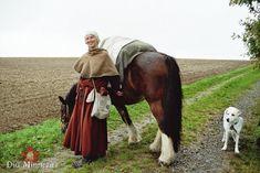Steffi und ihr Pferd, Guiness, sowie Melis Hund