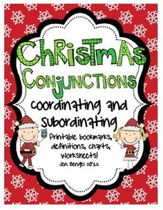 {freebie} Just posted!  This is a great 10 page resource for teaching coordinating and subordinating conjunctions, a language skill required by the Common Core State Standards beginning in third grade.  Enjoy creative printable bookmarks and worksheets to incorporate this skill in your reader's workshop or during literacy centers!!