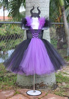 Baby Girls Maleficent Tutu Dress with Horns. por Rufflesbyamelie
