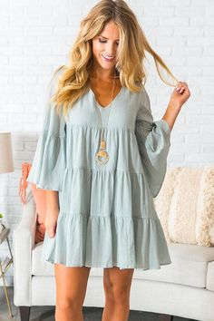 Sunrise Sippin Babydoll Dress in Aqau 46 Grab a glass of wine and ha Preppy Outfits, Boho Outfits, Dress Outfits, Summer Outfits, Fashion Dresses, Cute Outfits, Summer Dresses, Babydoll Dress Outfit, Bohemian Dresses