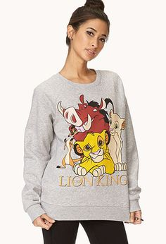 The Lion King Sweatshirt | FOREVER21 - 2000090972 #FOREVERHOLIDAY
