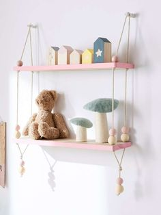Baby bedroom small shelves new Ideas Kids Bedroom Princess, Baby Bedroom, Baby Room Decor, Nursery Room, Nursery Decor, Bedroom Small, Childrens Bedroom Storage, Girls Bedroom Storage, Wall Storage