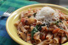 Massa do dia: Espinafre, nozes e tomates!