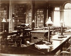 library | Library in first Law Building c. 1888