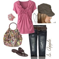 Pink & Brown by sapple324 on Polyvore