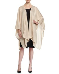 Shimmer Knit Draped Wrap, Tahitian Pearl Shimmer by St. John at Neiman Marcus Last Call.