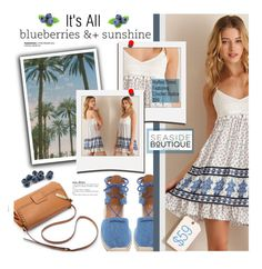 """It's All Blueberries & Sunshine"" by seaside-boutique ❤ liked on Polyvore featuring Aquazzura and Polaroid"
