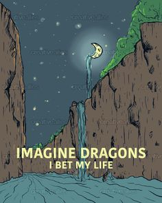 Imagine Dragons Poster by Salome Iljana on CreativeAllies.com