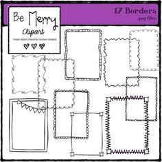 Free clip art: FREE Border clip art from Be Merry.