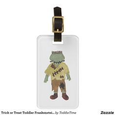 Trick or Treat Toddler Frankenstein Monster Luggage Tags