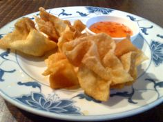 Fried wantan with home-made filling @ Restaurant East to West