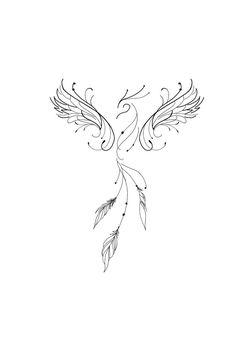 Anklet Tattoos, Dainty Tattoos, Mini Tattoos, Cute Tattoos, Beautiful Tattoos, Small Tattoos, Tatoos, Phoenix Tattoo Feminine, Small Phoenix Tattoos