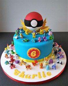 Pokemon go birthday cake Pokemon gehen Geburtstagstorte Pokemon Themed Party, Pokemon Birthday Cake, 6th Birthday Cakes, Novelty Birthday Cakes, 6th Birthday Parties, Birthday Ideas, Pikachu Cake, Pokemon Cakes, Festa Pokemon Go