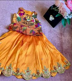 Gowns For Girls, Kids Outfits Girls, Dresses Kids Girl, Girl Outfits, Kids Indian Wear, Kids Ethnic Wear, Baby Girl Dress Design, Baby Design, Kids Dress Wear