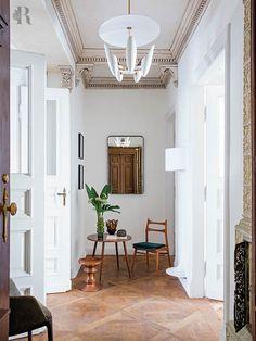 Ideas apartment entryway architectural digest for 2019 Art Nouveau Interior, Art Nouveau Furniture, Art Nouveau Design, Lobby Furniture, Lobby Interior, Home Interior, Interior Architecture, Interior Design, Interior Modern