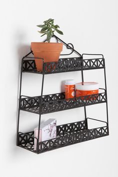 basket weave shelf - urban outfitters (good for kitchen or bathroom)