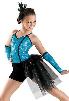 Dance Costume Skate Dress Jazz Tap Twirl Ballet 5982 Weissmans Blue SC