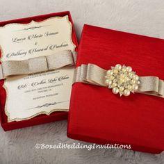 Red Invitation Box & Invitation Card