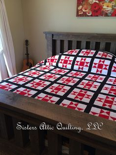 A lovely Ohio Star quilt finshed by Sisters Attic Quilting for our sister in Missouri.
