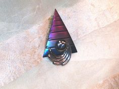 Vintage Ombre Abstract Brooch 1980s Wearable Art From Fabulous Estate Jewelry Collection, sold by NorthCoastCottage Jewelry Design & Vintage Treasures, $59.00 #handmade #jewelry