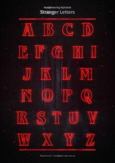 """#Alphabet #das #dem #ich #le #mal #musste #nach #StaffelFinale #Stranger #unbedingt Nach dem Staffel-Finale musste ich unbedingt mal das Stranger Things Alphabet le... Nach dem Staffel-Finale musste ich unbedingt mal das Stranger Things Alphabet lettern. :-D Und fertig sind die """"Stranger Letters"""" zum Nachzeichnen. Der Glow kommt natürlich nur beim digitalen Lettering richtig stark rüber, aber den Buchstaben Stil kann man auch analog gut nachahmen. Viel Spaß mit dem Handlettering Al..."""