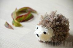 Cute Hedgehog Crafts – Pom Pom Hedgehog