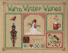 Warm Winter Wishes - Cross Stitch Pattern