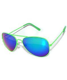 149bc96388 Classic Aviator Sunglasses Green Color Metal Frame Blue - C511MA4VQ7L