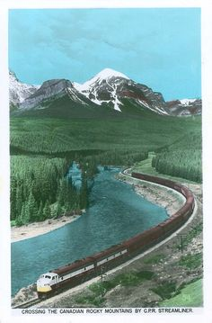 "CPR Passenger Train ""The Dominion"" in the Rocky Mountains by Wrecksdale Wreck, via Flickr"