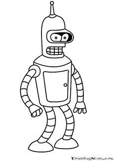 Futurama coloring book Bender