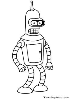 Futurama coloring book Bender