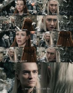 The Hobbit: The Battle of the Five Armies - Tauriel, Legolas and Thranduil